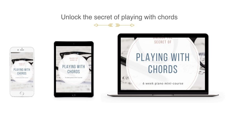 Playing With Chords Piano Program